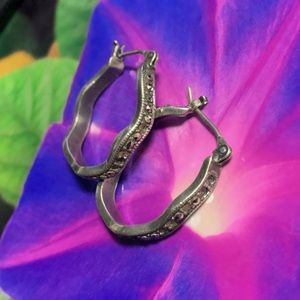 Vintage Jewelry - VINTAGE marcasite WAVY 925 earrings! need love!